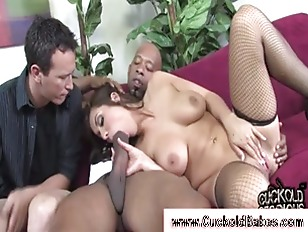 Husband and wife suck guy
