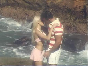 Picture Amazing Blonde Banged Beach Side