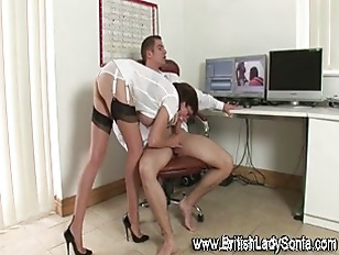 Sexy Stockinged Handjob Slut...