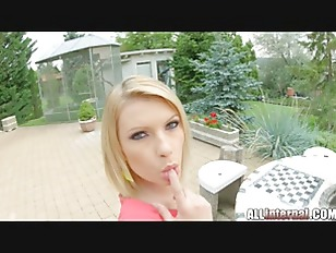 Picture AllInternal Leggy Blonde Pushes Cum From Her...