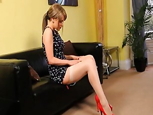 Picture Cute Girl Teasing At Home In Shoes