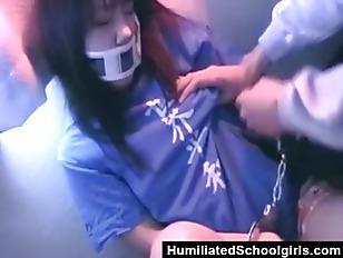 Handcuffed Asian Teen Gets Fucked