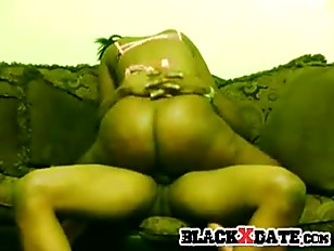 Picture Bootylicious Black Babe Rides Black Cock