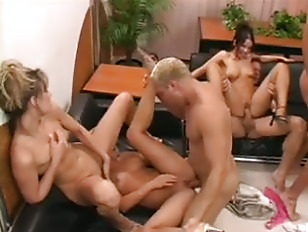 Picture Orgy In The Lounge