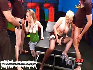 Naughty Blonde Babes In...