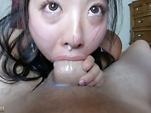 CUM dripping out of her NOSE INTENSE pov THROATFUCK for sukisukigirl