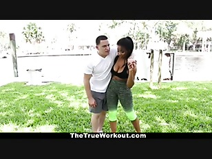 Therealworkout hot fitness guru fucked during workout Part 3 8