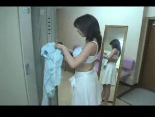 Japanese Girl Takes a Shower