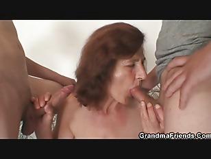 Skinny Granny Swallows Two...
