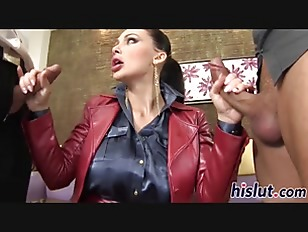 Aletta Ocean sucks on...