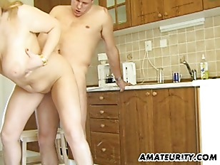 Picture Busty Amateur Milf Sucks And Fucks In Her Ki...