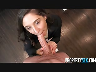 PropertySex - College student fucks agent with amazing ass