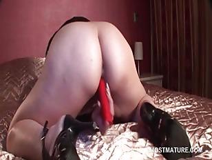 Picture Horny Mature Slut Masturbates Pussy With Vib...