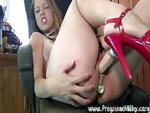 Pregnant Slut Dildo Masturbation...