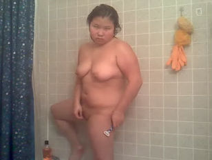 Picture Curvy Asian Showering