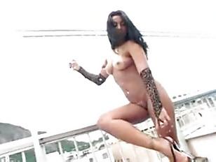 Picture Ju Pantera Rooftop Interracial Fucking