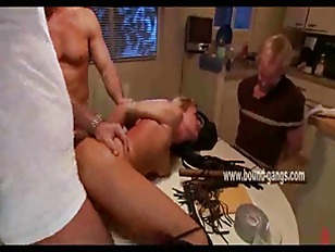 Blonde wife thrown on...