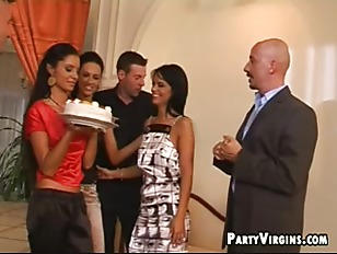Picture Blindfold Party Babes Start Pulling Out Thei...