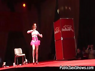 Picture Big Boobed Redhead Stripper Gets Down On Her...