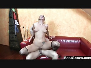 Picture Exotic Blonde Takes A Mouthful Of Cock