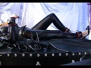 Horny Girl In Latex...