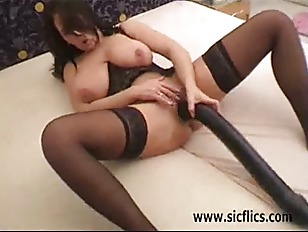 Busty Brunette Babe Fisted...