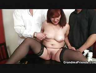 Picture Granny Plays Strip Poker Then Double Dicked