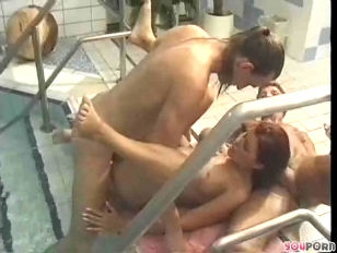 Threesome At The Spa...