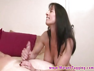 Busty Mature Pleasing Dude...
