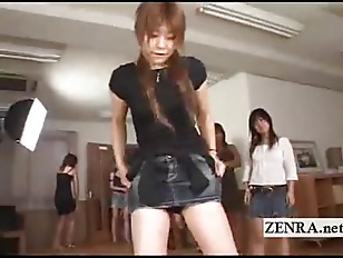 Face sitting harem with miniskirt clad Japan amateurs
