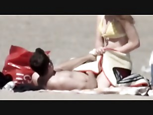 Beach teen couple sex...