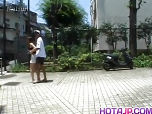 Picture Sayaka Hagiwara Has Snatch Touched Outdoor A...
