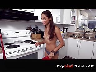 Latina maid strips and fucks p3