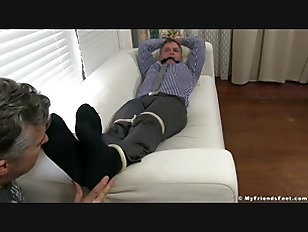 image Aged yuppie brendan cage is restrained and foot worshipped