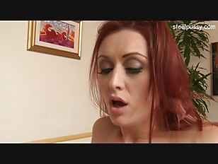 Redhead Beauty Gets Creamed...