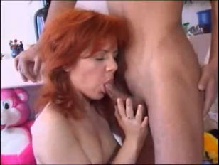 Redhead Fucked In All...