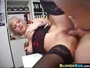 Secretary In Lingerie Getting...