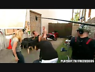 Picture Behind The Scenes At Playboy Tv
