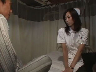 Hot Japanese nurse fucks patient