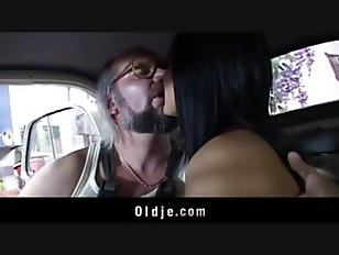 Brunette Seduce Old Worker...