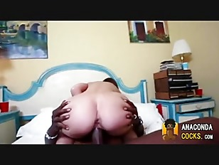 Picture MonsterCock Fucking Brunette Cutie Hard Deep
