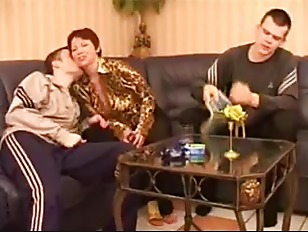 Russian Mom And Two...
