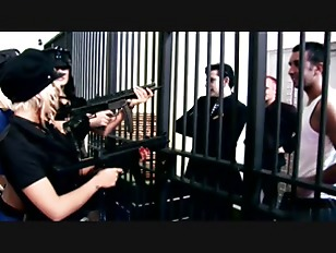 Bored sexy prisoners getting wild and fuck with the guards in the prison