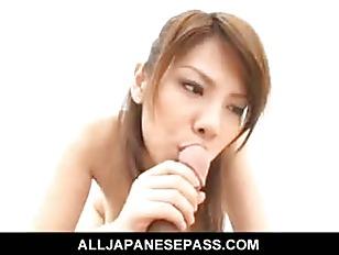Busty Japanese teen Sara...