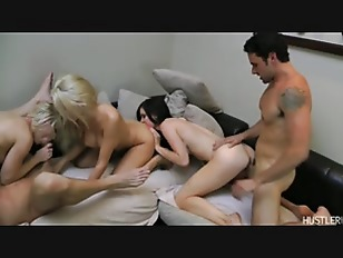 Picture Five Hot Girls, Three Hard Cocks, And More P...