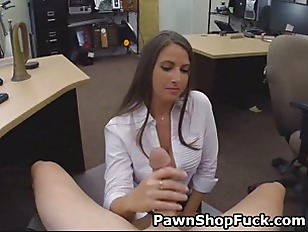 Picture Brunette Office Worker Sucking Dick In Back...