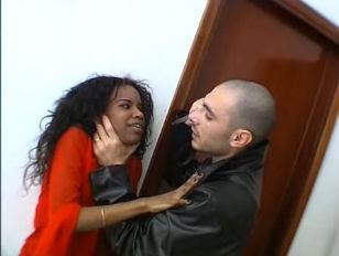 Ebony fucked very hard in the ass