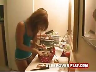 Lesbian sleepover
