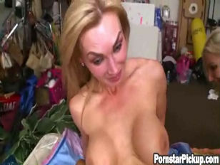Picture Two Slutty Pornstars Fuck Fan In Backroom