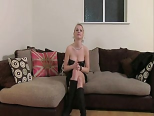 Busty blonde in boots anally fucked on casting